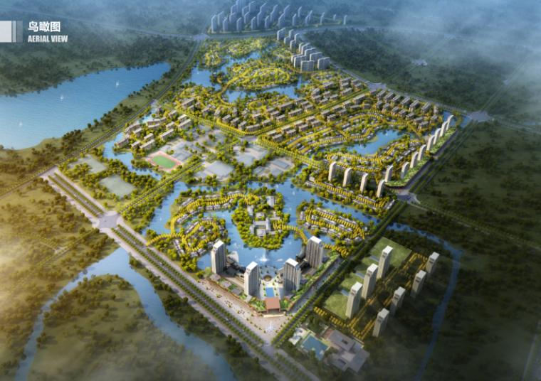 绿地湖北咸宁梓山湖温泉康养小镇设计方案