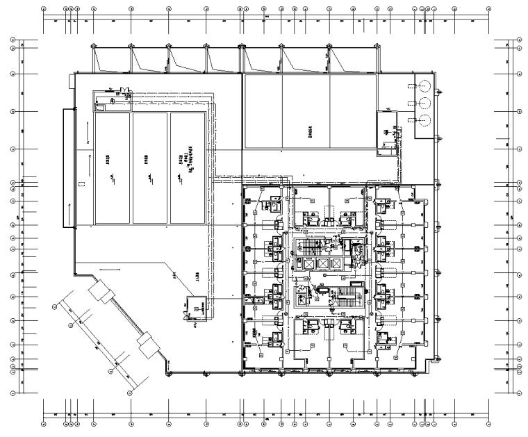 21层高层商业楼电气改造施工图纸(19年图)