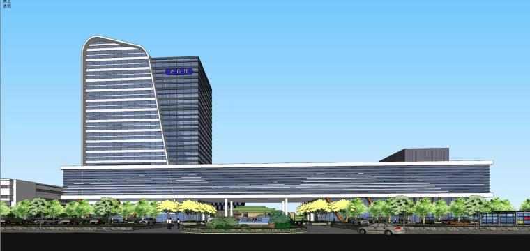 老百姓大药房总部基地建筑模型设计 (2)