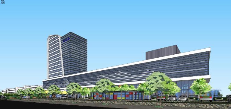老百姓大药房总部基地建筑模型设计 (1)
