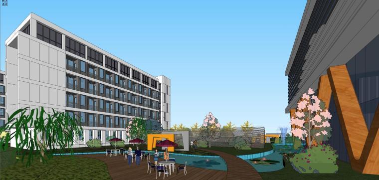 老百姓大药房总部基地建筑模型设计 (3)