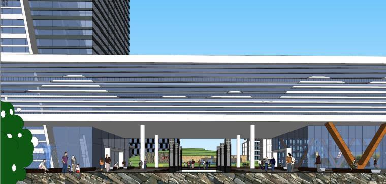 老百姓大药房总部基地建筑模型设计 (5)