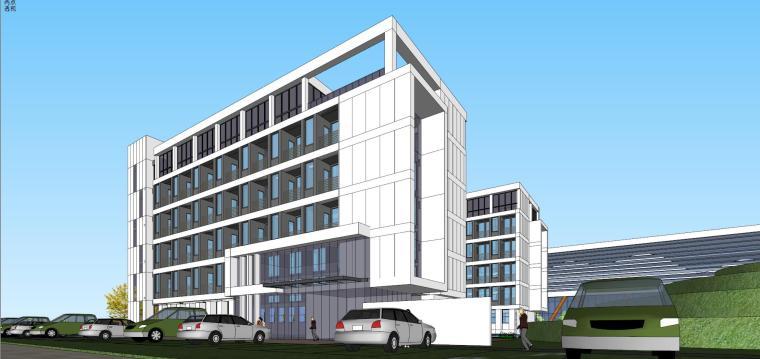 老百姓大药房总部基地建筑模型设计 (4)