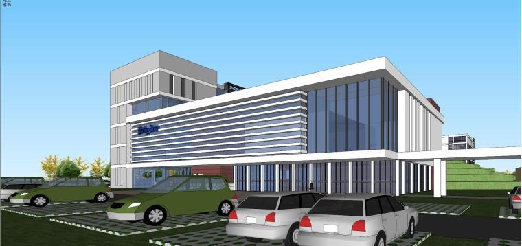 老百姓大药房总部基地建筑模型设计 (6)