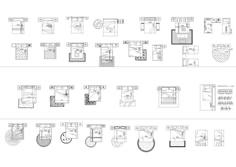 室内装饰,植物等CAD平立面图块