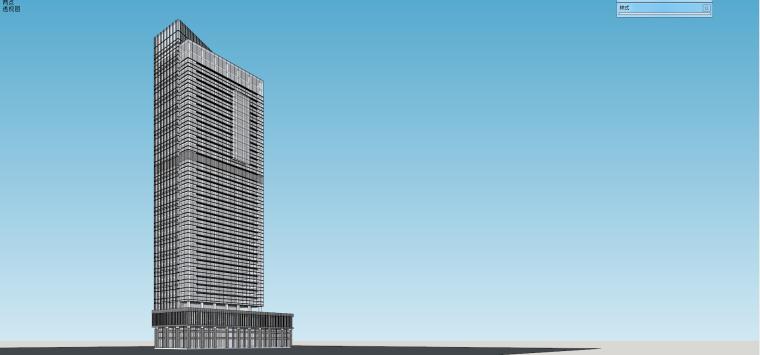 现代高层商业办公楼su建筑模型设计
