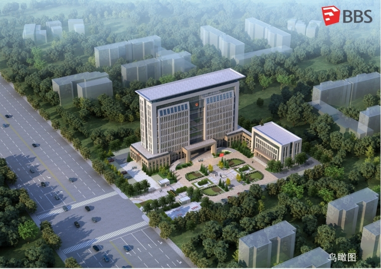 某政府新古典办公楼建筑模型设计 (1)