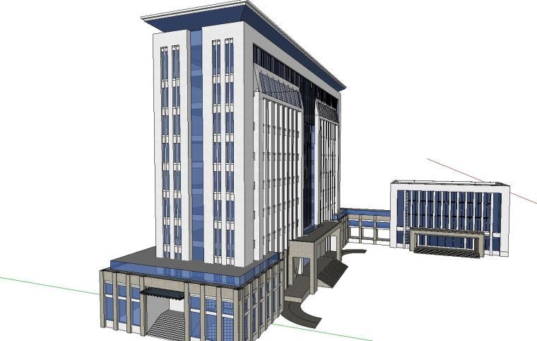 某政府新古典办公楼建筑模型设计 (4)