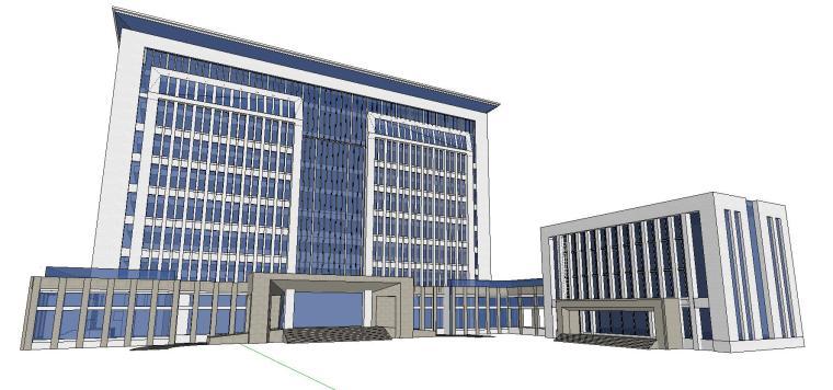某政府新古典办公楼建筑模型设计 (5)