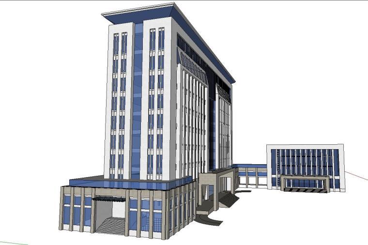 某政府新古典办公楼建筑模型设计 (6)