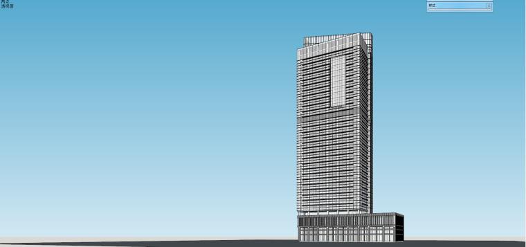 现代高层商业办公楼su建筑模型设计 (2)