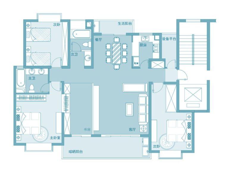 """4+1房2厅3卫,新版""""隔离功能""""的户型"""