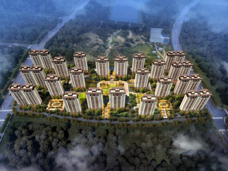 延安万达城新中式住宅建筑投标方案文本