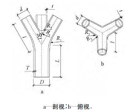 树状形三分叉铸钢节点在偏心荷载下力学性能