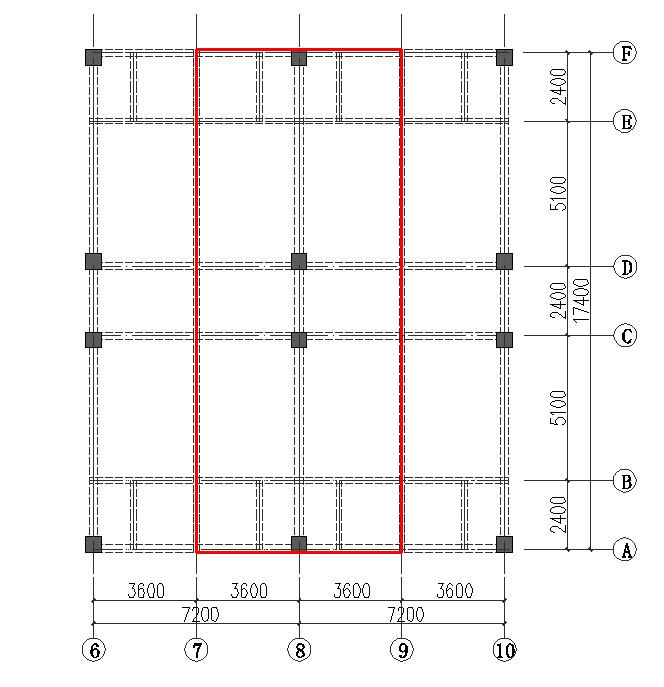 这一榀框架的梁板柱荷载怎么计算呢?