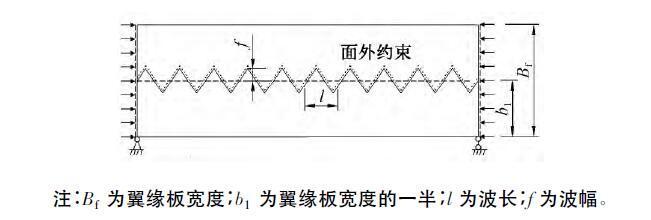 折线形腹板H型钢梁翼缘局部稳定性能研究
