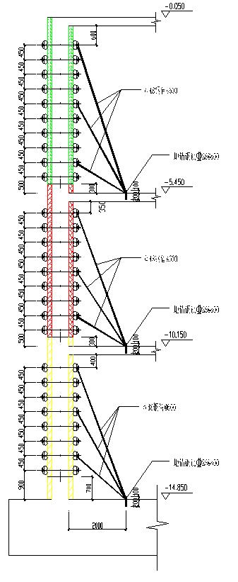 多栋高层塔楼项目木模板施工方案-外墙模板施工图