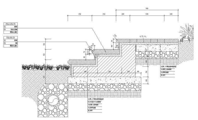 景观设计深度图示-台阶详图设计