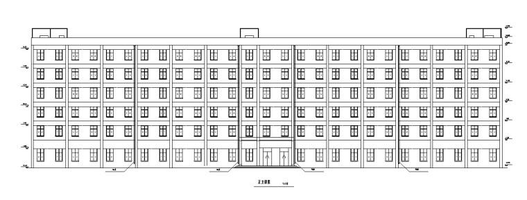 综合办公楼全套设计(含计算书,建筑图等)