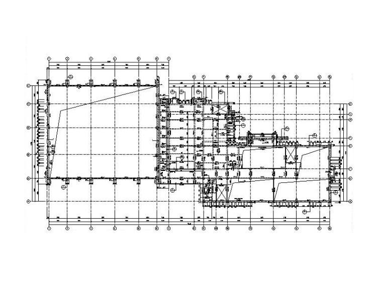 底部框架+钢屋盖变电站实训中心结构施工图