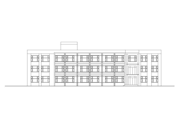 苏留庄镇后屯中心小学综合楼建筑施工图设计