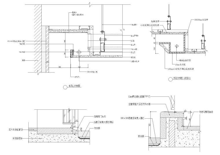 矿棉板吊顶,排放口,方形吊顶等天花节点