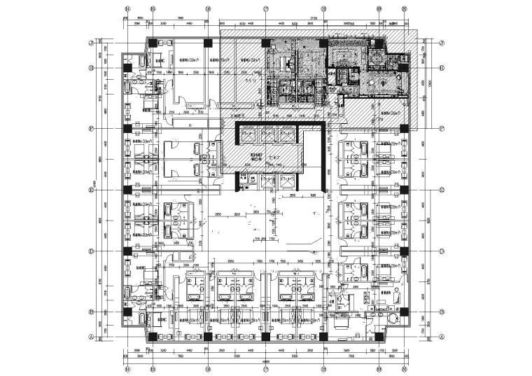 [山东]烟台万达文华酒店客房样板房施工图