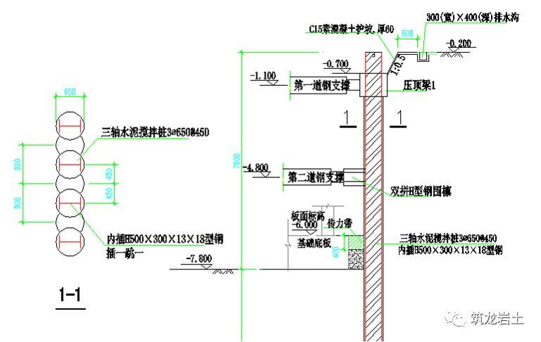常见基坑支护结构图及实景图解说!_18