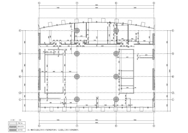 [广东]融通华都办公室空间室内设计竣工图-墙体放线图