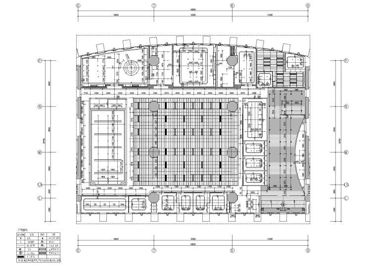 [广东]融通华都办公室空间室内设计竣工图-天花灯具尺寸图