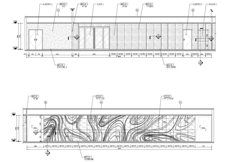 [广东]融通华都办公室空间室内设计竣工图-前厅立面图