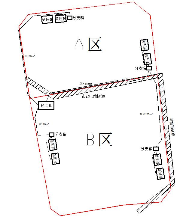 12现场地下高压电缆布置图