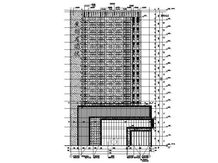 教学综合楼建筑立面图