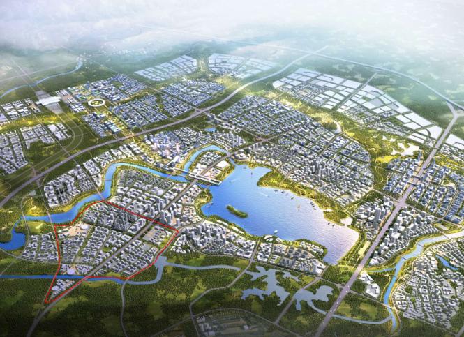 成都天府新区科技城总体城市设计文本_深规-鸟瞰图