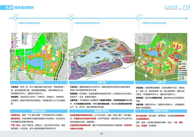 成都天府新区科技城总体城市设计文本_深规-相关规划解析