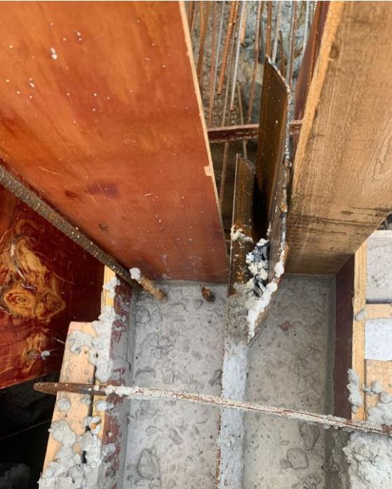 竖向止水钢板和横向止水钢板连接处怎么焊接