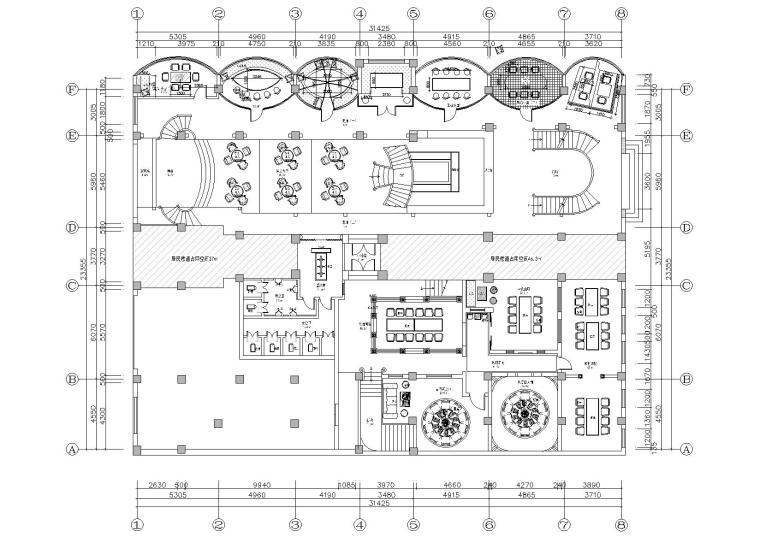 [西安]蝴蝶梦餐厅室内装饰设计施工图