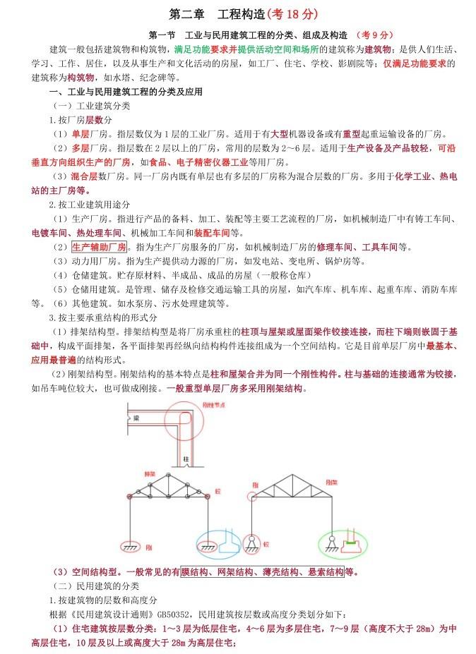 注册造价工程师考试计量讲义-2、工程构造
