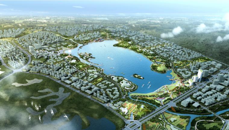 [成都]绿色都市生活休闲滨湖区景观设计方案