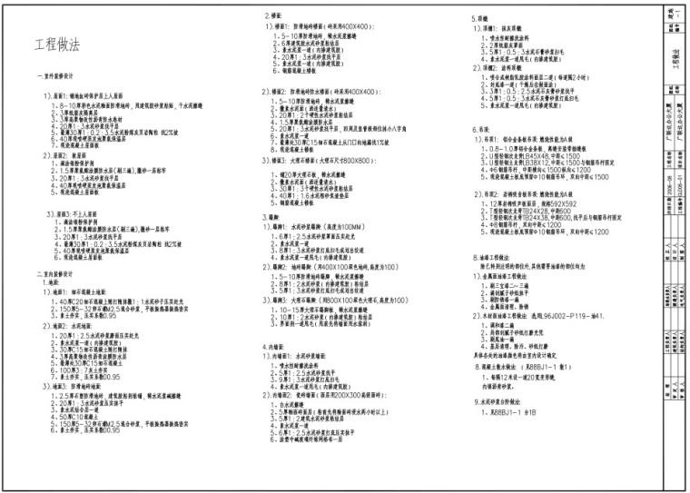 教学案例用图——广联达办公大厦实训图纸
