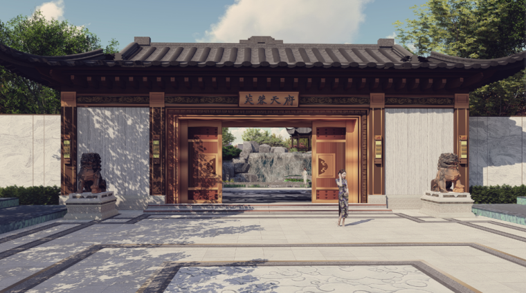 [四川]中式风天府示范区景观深化方案设计