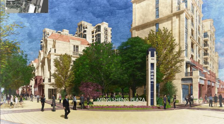 [湖南]法式风格城市广场商住景观深化方案