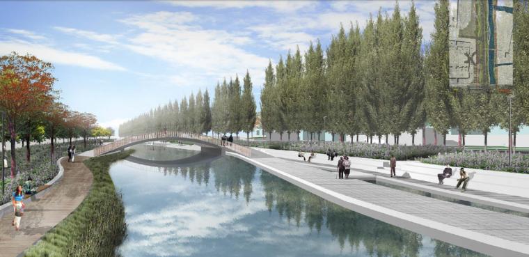 [江苏]昆山城市滨水道路沿线景观设计方案