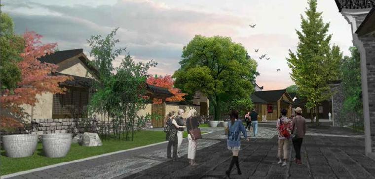文化园内部景观效果图2