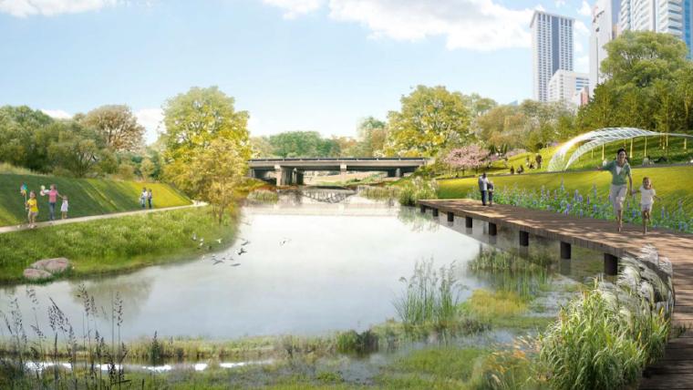 欧式独栋二层滨水资料下载-[深圳]城市滨水道路自然景观概念方案