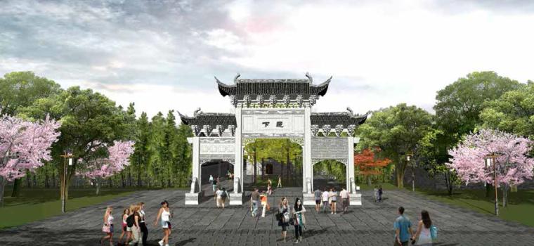 文化园入口效果图