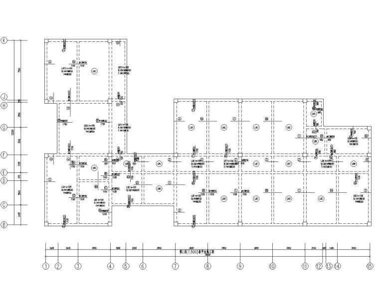 某多层小办公楼结构设计施工图(CAD)