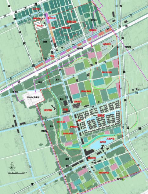 乡村振兴规划核心区平面图