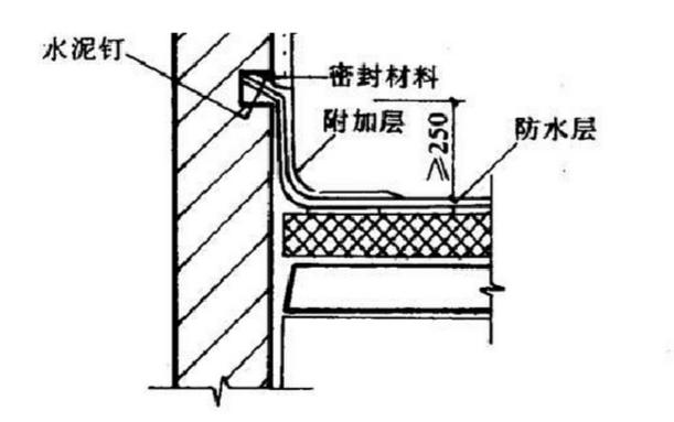 43防水卷材节点做法示意图