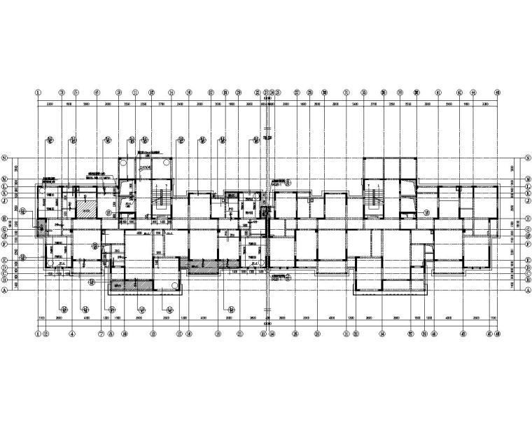 某18层高层剪力墙结构施工图(CAD)